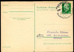 Sost. HUSSITEN-KIRSCHFEST NAUMBURG 1969  DDR Antwort-Postkarte P77A - Fiestas
