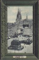 Germany Koeln Heumarkt und Denkmal Friedrich Wilhelm IV