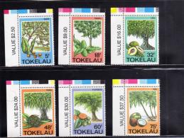 TOKELAU ISLANDS 1985 FLORA PLANTS FRUITS PLANT FRUIT PIANTE FRUTTI PIANTA  MNH - Tokelau