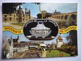 Nevers(58)capitale De La Faience - Palais Ducal-le Pont De La Loire Et La Cathedrale St Cyr Et St Julienne ( 2 Scann ) - Nevers