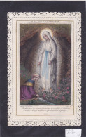 SANTINO  CANIVET MECCANICO CROMOLITO  INCISIONE ACQUARELLATA MADONNA DI LOURDES E BERNADETTE   Cm. 12,3x8 -2 0882-20427 - Images Religieuses
