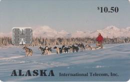 ALASKA - Dog Sled($10.50), Tirage 5000, 03/94, Mint - Schede Telefoniche