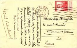 CPU47/ @ 5 € N° 111 Liège 1913 Sur Belle CPA Musée Curtius Pour Villeneuve-la-Garenne - Belgien