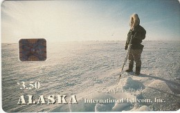 ALASKA - Alaskan Eskimo Hunter(complimentary), Tirage 3000, 12/93, Mint - Schede Telefoniche