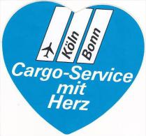 HERZ CARGO SERVICE VINTAGE LUGGAGE LABEL - Baggage Labels & Tags
