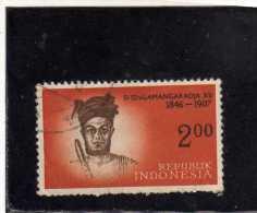 INDONESIA 1961 1962 Si Singamangaradja XII. 2 R USED - Indonesia