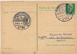 WIEMERINGHAUSEN Hochsauerland 1968 Auf DDR Antwort-Postkarte P77 A - Vacances & Tourisme