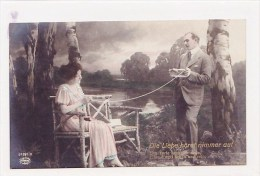 Paar, Couple, Stricken, Tricoter, Photo, 1918  ***76127 - Professions