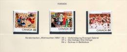 KANADA 1984, 32+37+64c ** Weihnachts Sondermarken - Abarten Und Kuriositäten