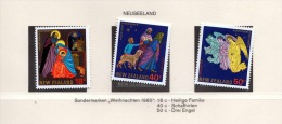 NEUSEELAND 1985, 18+40+50c ** Weihnachts Sondermarken - Abarten Und Kuriositäten