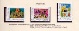 ARGENTINIEN 1984, 20+30+50Sa ** Weihnachts Sondermarken - Argentinien
