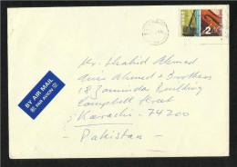 Hong Kong China Air Mail  Postal Used Cover HongKong To Pakistan - Ohne Zuordnung