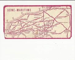 Carte  Routiere De La Seine-Maritime 76 - Roadmaps