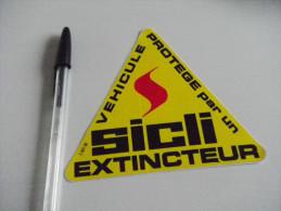 Autocollant - Automobiles - Extincteurs SICLI - Autocollants
