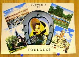 HAUTE GARONNE TOULOUSE MULTIVUES FEMME EN MEDAILLON CAPITOLE JARDIN DU GRAND ROND CATHEDRALE SCAN R/V - Toulouse