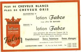 - BUVARD-  Buvard Publicitaire Lotion Capillaire FABRE Laboratoire à PARIS - Parfums & Beauté