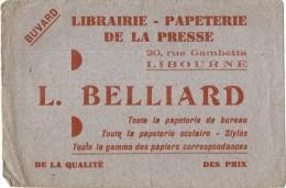 - BUVARD-  Papeterie  BELLIARD - LIBOURNE Papiers Stylo ... - Stationeries (flat Articles)