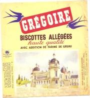 - BUVARD-  GREGOIRE  Biscottes Allégées - Château De Chantilly - Déchirures - Food