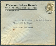1945 Belgium Ostende Advertising Cover Pecheurs Belges Reunis / Fishing Fish - Advertising