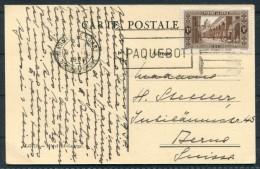 1938 Algeria Hotel St George Postcard Marseille Gare PAQUEBOT - Switzerland - Algeria (1924-1962)