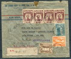 1946 Peru Lima Registered The Sydney Ross Company Cover - United Nations Language Division, Lake Success. New York, USA - Peru