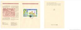 Germany 1995 Mi. Block 34 FDC Folder, Für Uns Kinder, Animals, Giraffe Zebra Lion Tiger Goat Frog - Francobolli