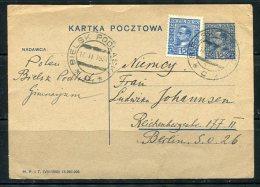 Poland 1931 Uprated  Postal Stationary  Card Henryk Sienkiewich Writer Nobel Prize Winner - 1919-1939 Republic