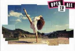 Woman Long Bare Legs Ballerina Postcard Sexy Girl Ballet Dancer Torino Italy - 19434 - Danza