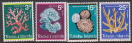 TOKELAU, 1973 CORALS 4 MNH - Tokelau
