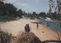 AFRIQUE,AFRICA,CAMEROUN,CAMEROON,ex Colonie Allemande Et Française,PLAGE,CACHET DOUALA AEROPORT - Cameroun
