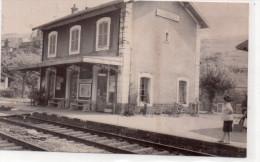 "CHAMELET "" La Gare"" CARTE PHOTO - France"