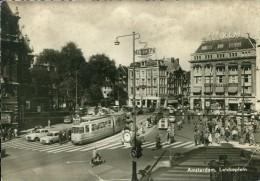 Straßenbahn Tramway Tram Automobil Amsterdam Leidseplein Peugeot KLM FLY 8.7.1960 - Strassenbahnen