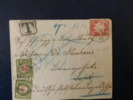 41/708  LETTRE DE BAYERN TAXE  BASEL 1902 - Postage Due