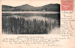 ITALIE POZZUOLI LAGO D'AVERNO  CARTE PRECURSEUR CIRCULEE 1906 - Pozzuoli