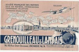 BUVARD Papeterie Imprimerie - Societé Française Des Papiers - état Moyen , Défauts Déchirure - BORDEAUX - Stationeries (flat Articles)