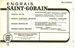 BUVARD  Agriculture - Engrais Saint Gobin PARIS - Petite Tache - Farm