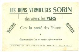 BUVARD Pharmaciotiques - Buvard Les Bons Vermifuges Sorin Détruisent Les Vers Laboratoire Des Vermifuges  - TB - Chemist's