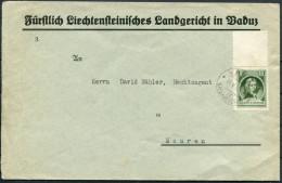 1930 Liechtenstein Vaduz Registered Cover - Mauren - Liechtenstein