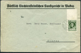 1930 Liechtenstein Vaduz Registered Cover - Mauren - Covers & Documents