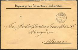 1939 Liechtenstein Vaduz Cover - Liechtenstein