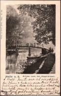 ! Alte Ansichtskarte 1902 Halle / Saale, Brücke Ziegelwiesen - Halle (Saale)