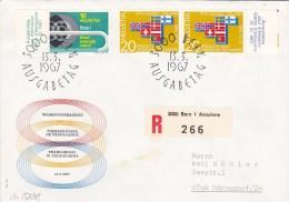 13.3.1967  -  FDC-Reco-Schmuckkuvert, Gelaufen Von Bern Nach Männedorf  -  O  Gestempelt  -  Siehe Scan  (ch 5238) - Svizzera
