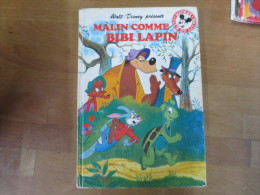 Club Mickey Du Livre   Malin Comme Bibi Lapin - Disney