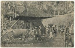 Dominica Lime Factory Pressoir Moulin Mill Stamped 1916 Edit Hotel De Paz Poor Condition - Dominique
