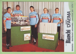 GIMONDI, VAN LINDEN, DE MUJNCK, KNUDSEN, SINGER .2 Scans.  Bianchi Faema - Cycling