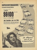 # AGIP FUEL 1950s Car Petrol Italy Advert Pub Pubblicità Reklame Essence Benzina Benzin Gasoline - Altri