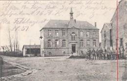 Photocarte Allemande-AUTHE Schule Soldats Allemands Croix Rouge1915 Dép08(guerre14-18)2scans - Guerra 1914-18