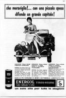 # AGIP ENERGOL OIL 1950s Car Italy Advert Pub Pubblicità Reklame Huile Olio Aceite Ol - Altri