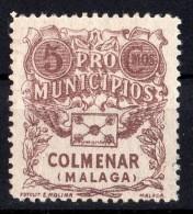 Colmenar  ( Malaga ) - Pro Municipios   -  5  Cts. - Sofima 3 - Guerre Civile  Espagne   Spain Civil War - Emisiones Nacionalistas