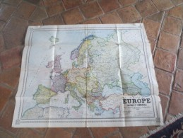 CARTE EUROPE POLITIQUE ET COMMERCIALE PAR PIERRE RAOUL GEOGRAPHE VOIR PHOTOS - Mapas Geográficas